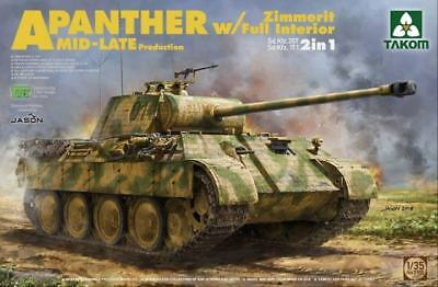 Takom 2100 Sd Kfz 171/267 Panther Ausf A mid/late Prod. w/ Zimmerit + Interior
