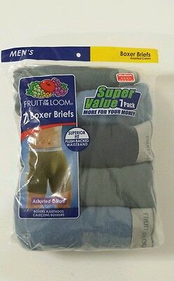 Fruit Of The Loom Men's 9 Pack Boxer Briefs Cotton All Sizes Assorted Random