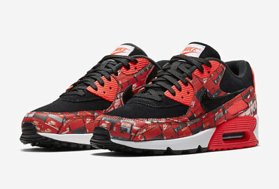 SHIP NOW ATMOS Nike Air Max 90 Prnt We Love Nike 6 13 Black