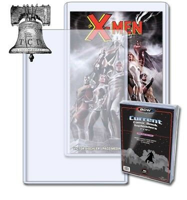 2 BCW Modern Age Current Comic Book 38-55 Topload 7x10x5mm Plastic Rigid Case