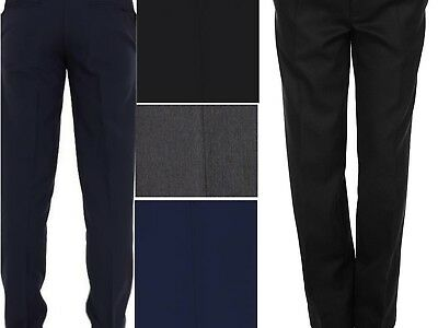 Boys Slim Fit School Trousers Uniform All Sizes Available Top Quality