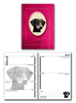 Doberman 2019 Large Dog Show Diary with Show Dates in a choice of 7 colours