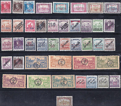 HUNGARY - VALUABLE OLD OCCUPATION STAMPS COLLECTION w/ 10N36 - LOOK!