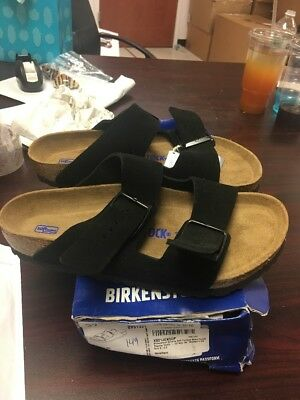 9635e4f18c41 Birkenstock Arizona Soft Women s Black Suede Leather Sandals Size 39 EU 8 US  149