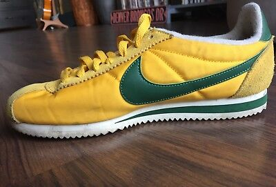 reputable site 58ac3 5d6a6 coupon for nike cortez basic nylon xlv oregon shoes yellow green sail size  9 a0663 6131f