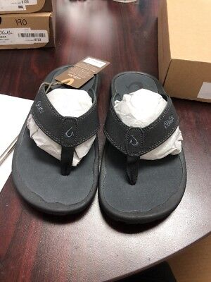 b3c857a67 E OluKai Black Dark Shadow  Ohana Men s Sandal Size 9 194