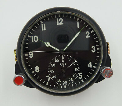 NEW!!! 60 ChP Soviet USSR Military AirForce Aircraft Cockpit Clock (Achs) #63354