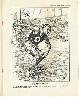 1936 Hitler vintage punch magazine with period Adverts Players/rolex