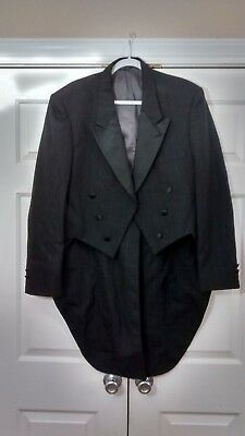 After six star collection black pinstripe tuxedo tail jackets selling ea nwots