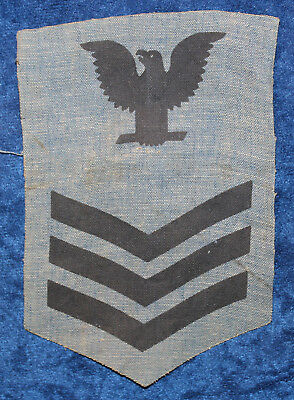 USN 1st  CLASS PO E-6 WORK JACKET RATE PATCH   5017