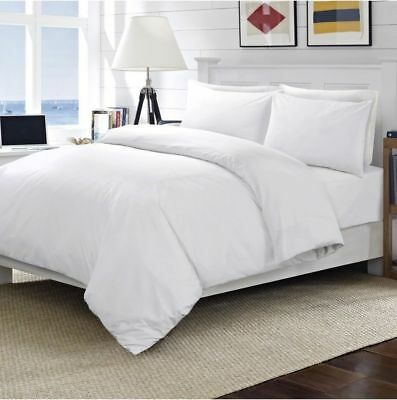 100% Egyptian Cotton 400 Thread Count White  Duvet Quilt Cover Bedding Set
