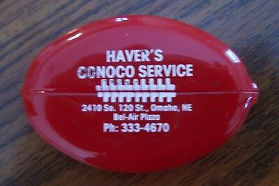 HAVER'S CONOCO SERVICE Advertising Rubber Squeeze Coin Purse Omaha, Nebr.