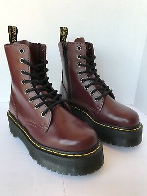 48d3df37cb36ef DR DOC MARTENS JADON 8-Eye Cherry Red Double Sole Platform Boots UK3 ...