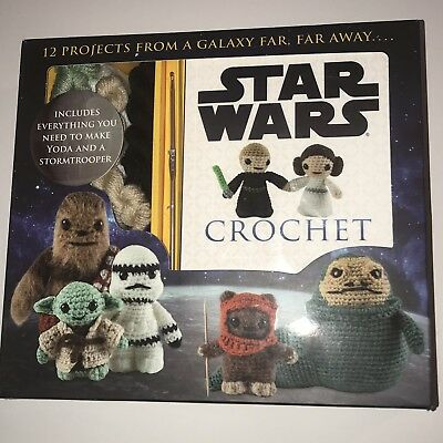 Star Wars Crochet Kit Yoda And Stormtrooper  NEW - OPEN BOX