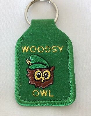 Vintage 1970's Woodsy Owl Keychain Give A Hoot Don't Pollute! US Forest Service