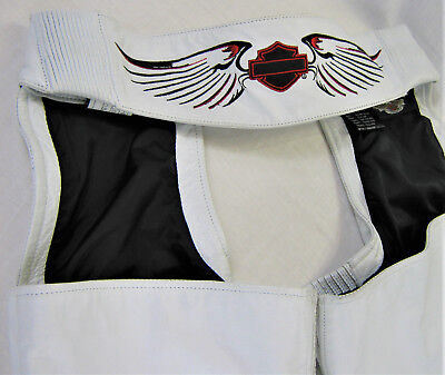 women's HARLEY DAVIDSON Leather Chaps WHITE S Small 97067-08VW Eagle's Wings