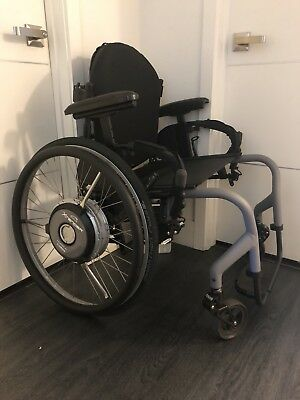 New Quickie Extender Power Assist Wheelchair Lightweight Sport Manual W/froglegs