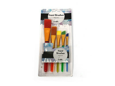 5 Pack Artist Paint Brushes Set Kit Watercolour Acrylic Oil Painting Face Craft