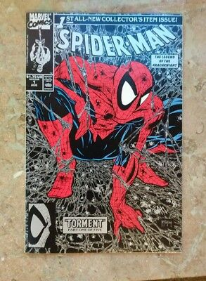 1990 Marvel Comics Spider-Man #1 Todd Mcfarlane Torment Silver Black Cover