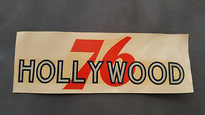 VINTAGE UNUSED HOLLYWOOD UNION 76 GAS STATION WATER SLIDE DECAL HOT ROD 50s RARE