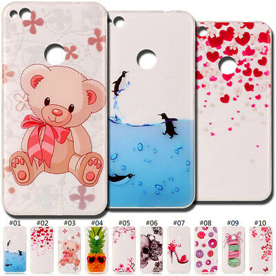 Painted TPU Skin Soft Slim Cute Clear Back Case Cover Silicone For Huawei Phone