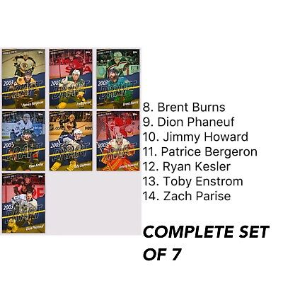 2018 CLASS OF '03 WAVE 2 COMPLETE SET OF 7 (LTD - 200CC) Topps NHL Skate Digital