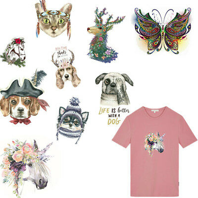 3D Animal Patches T-shirt Heat Transfer Stickers Iron On Patch A-level Washable