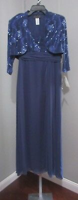 14d2f393528 Alex Evenings Petite 2 Pc Dress Size 8P Wedgewood Nwt Mother Of The Bride