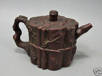 Antique Chinese Teapot Yixing Stub Tree Figure Pottery Decorations