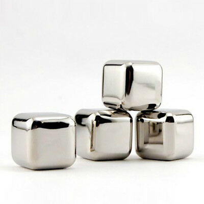 Stainless Steel Cooling Tool Ice Cubes Whiskey Stones Stainless Steel Chillers