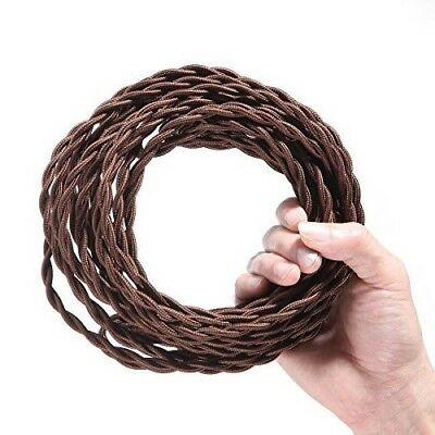 28 Ft VINTAGE Twisted Cloth Cotton Covered Cord DIY Antique Electrical Wire Lamp