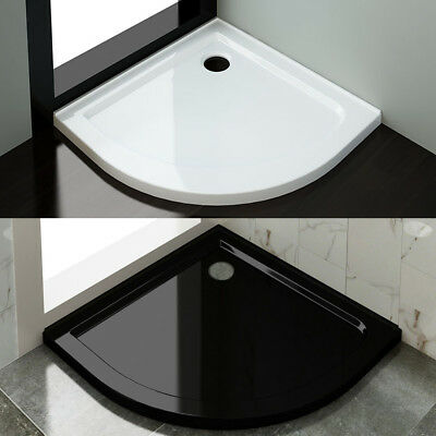 Acrylic Fiberglass Curved Shower Base Tile Over Tray Durable Drain Waste Option