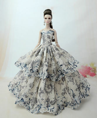 Fashion Princess Party Dress/Evening Clothes/Gown For 11.5in.Doll Y36