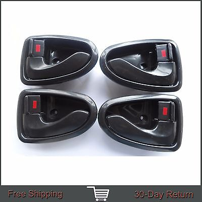 For Hyundai ACCENT Inside Front Rear Left Right Side Black Door Handle 00-06