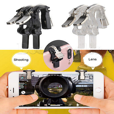 S4 Gaming Trigger Fire Button L1R1 Shooter Controller PUBG V3.0 For iphone X