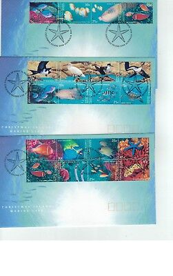 1993  Christmas Island    Marine Life set of 3 FDC