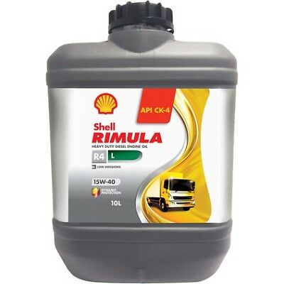 Shell Rimula R4L CK-4 Diesel Engine Oil - 15W-40 10 Litre