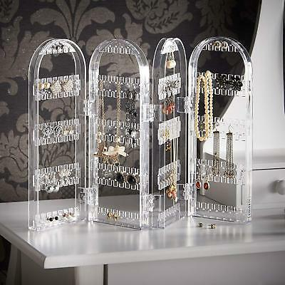 Jewelry Earring Necklace Holder Display Stand Acrylic Holder Organizer Showcase