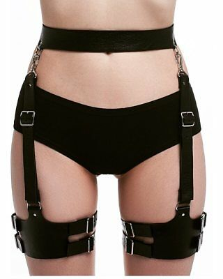 Women Leather Garter Belts Straps Waist Thigh Leg Bondage Body Harness Corsets