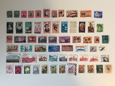 Collection Of South African Stamps, Some Pre-Decimal, 61 In Total