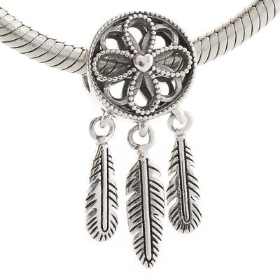 6a14ad099 925 Sterling Silver Spiritual Dream Catcher Dangle Charm Fit European  Bracelet