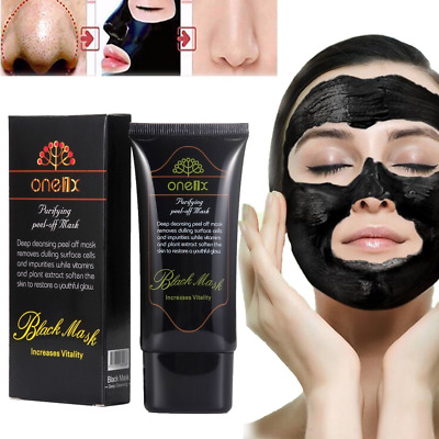 Charcoal Activated Black Face Mask Blackhead Remover Peel-Off Facial Black Mask!