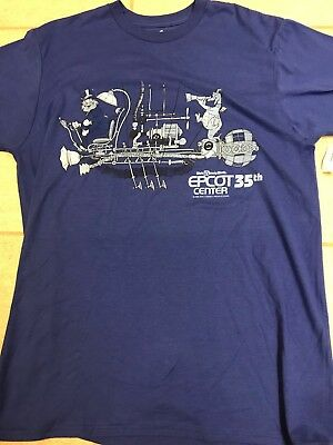 Disney Epcot 35th Anniversary Cast Member Exclusive  T-Shirt Size Medium NWT!