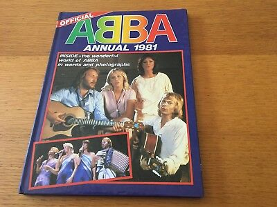 Abba - Abba Annual 1981 - Hardback 45 Page Book Unclipped Price & Mint Pages