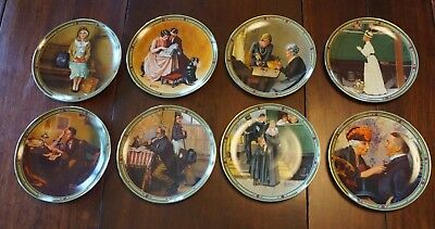 Lot-of-8-Norman-Rockwell AMERICAN-DREAM SERIES Collector-Plates