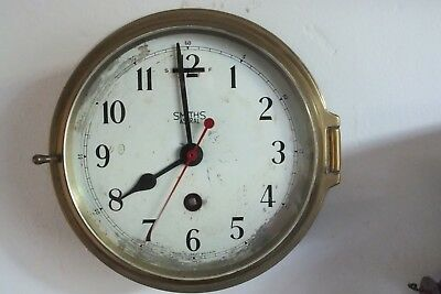 Smiths Astral 8 Day Ships Bulkhead Clock