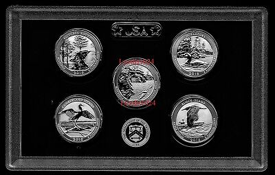 2018 S Mint Silver Reverse Proof Quarter 5 Coins 90% SILVER NO BOX/COA SOLD OUT