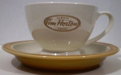 Tim Hortons Coffee Tea Cup and Saucer Always Fresh