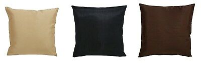 Faux Silk Plain Scatter Covers Pillow Case Sofa Cushion Cover Home Decor UK