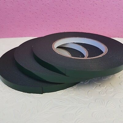 Black Automotive Double Sided Foam Permanent Car Self Adhesive Tape 9mm x 10m